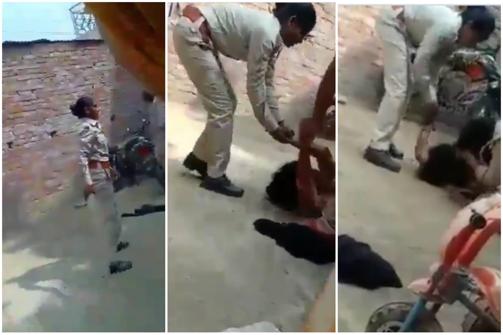 एक बार फिर खाकी हुई फिर शर्मसार | #TEJASTODAY जौनपुर का नं. 1 न्यूज पोर्टल लखनऊ। मुख्यमंत्री योगी आदित्यनाथ की BJP सरकार के शासन में खाकी फिर शर्मसार हुई है। प्रतापगढ़ में पुलिस पर एक महिला को घर में घुसकर लात-घूंसों से पीटने का आरोप लगा है। घटना से जुड़े वायरल वीडियो में तीन से चार पुलिस कर्मचारी महिला को पकड़ कर हड़काते और पीटते नजर आ रहे थे। हैरत की बात है कि वाकये के दौरान घर में छोटे बच्चे के रोने की आवाज आ रही थी, पर फिर भी पुलिस महिला पर डंडे से वार करता रहा। पुलिस को महिला की चीख और मासूम के आंसुओं पर जरा भी तरस न आया। यह मामला राजीगंज कोतवाली के भागीपुर गांव का है जहां इस शर्मनाक करतूत में दारोगा वीरेंद्र त्रिपाठी के साथ दो महिला सिपाही भी शामिल थीं। इन्होंने ही महिला के घर में घुसकर उसे मारा-पीटा। बच्चे रोते रहे, मगर वे न माने और पीटते रहे। हालांकि, 'The Quint' की रिपोर्ट में पुलिस के हवाले से कहा गया कि महिला ने महिला पुलिस कॉन्सटेबल से मारपीट की थी। जिस महिला की पिटाई की गई, वह फातिमा बानो हैं और वह भागीपुर गांव निवासी हैं। परिजन इस मसले को लेकर करीब 18 किमी दूर जिला पुलिस मुख्यालय भी गए पर उनकी सुनवाई न हुई।